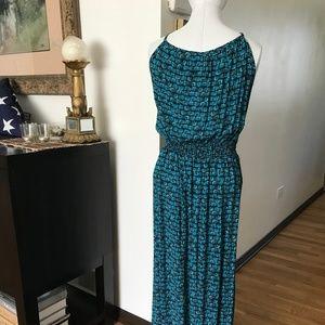 Faded Glory Dresses - Spaghetti Strap Print Plus Size Maxi Dress